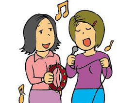 抒情歌を歌う